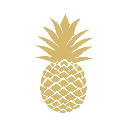 Golden pineapple lunch napkins