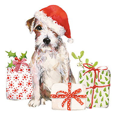 Christmas Puppy Lunch Napkins