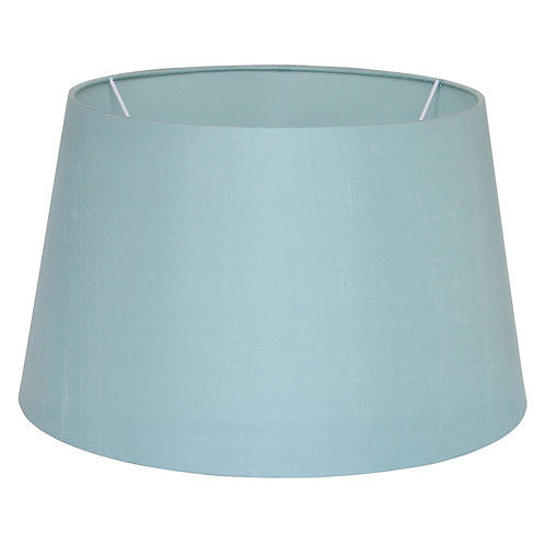 35cm Duck Egg Silk Tapered Cylinder Shade