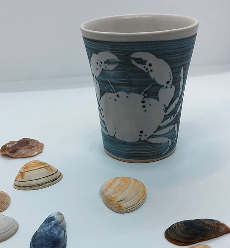 Coastal Hand Crafted Pottery Crab Collection Coffee Mug
