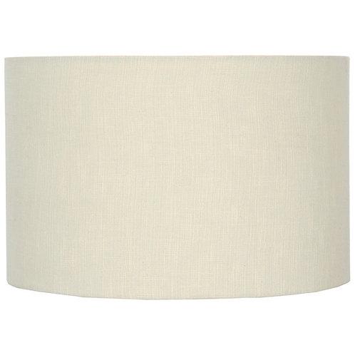 35cm Cream Self Lined Linen Drum Shade