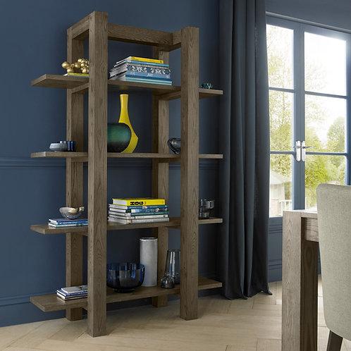 Turin Dark Oak Open Shelf Unit