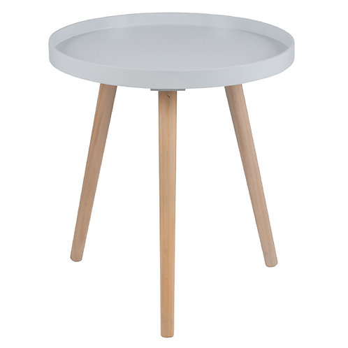 Grey Pine Wood & MDF Round Table Large sand cornwall