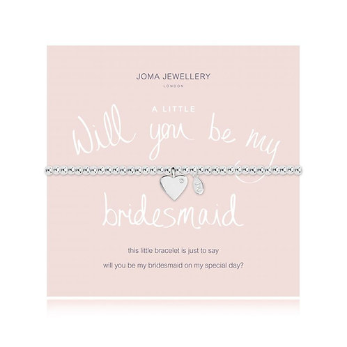'A Little Will You Be My Bridesmaid' Bracelet