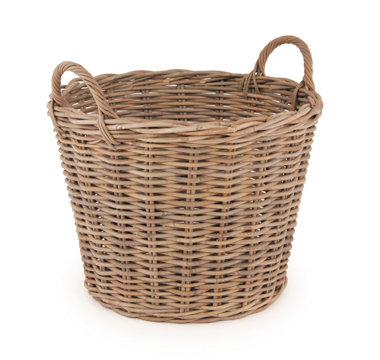 Grey Kubu Round Basket