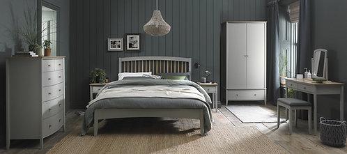 Whitby Scandi Oak & Grey Low Footend Bedstead King Size 150cm