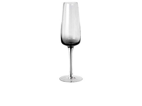 Broste Champagne Glass 'Smoke' Glass set of 4