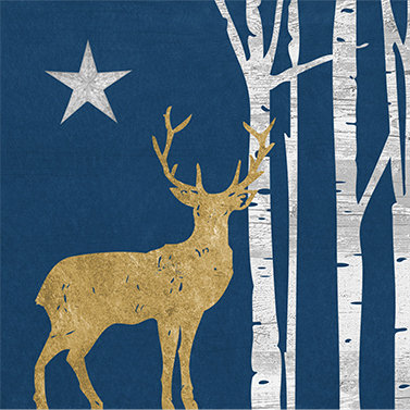Mystic Deer Dark Blue Lunch Napkins