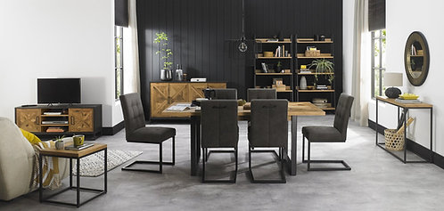 Indus Rustic Oak 4-6 Dining Extending Table