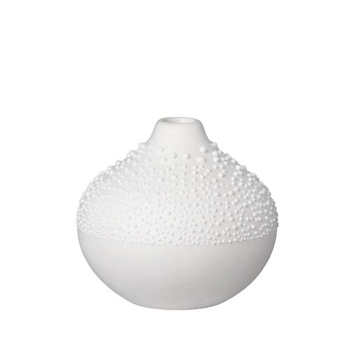 White Medium Decorative Beaded Vase