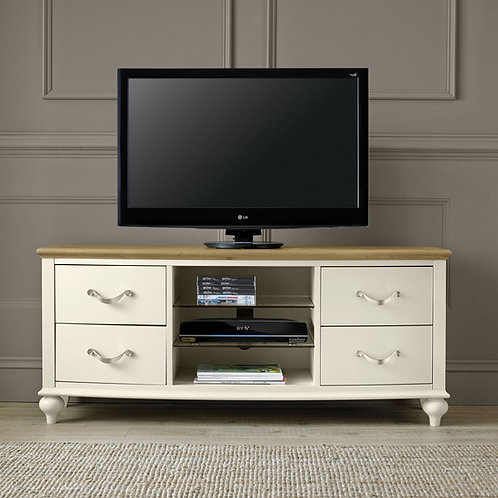 Montreux Pale Oak & Antique White Entertainment Unit