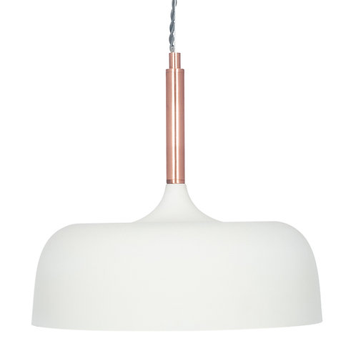 Matt Cream Domed Metal Pendant