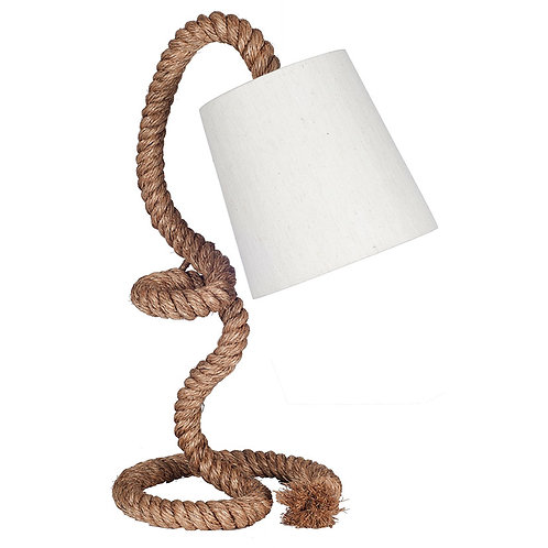 Rope Task Table Lamp Complete with Natural Shade pacific lifestyle sand cornwall