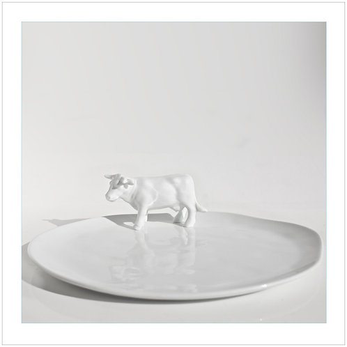 White Porcelain Cheese Platter