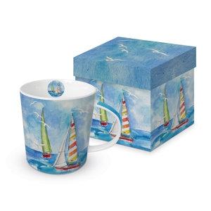 Sailing Boat Gift-Boxed Mug 350ml New Bone China