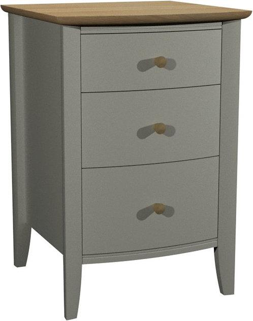 Whitby Scandi Oak and Grey 3 Drawer Nightstand
