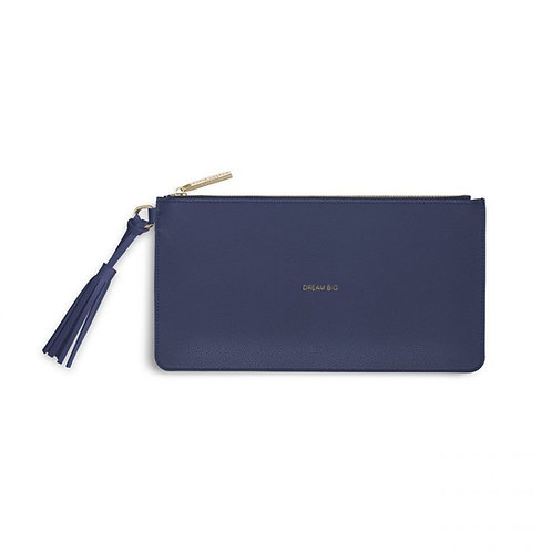 Katie Loxton 'Dream Big' Florrie Tassel Pouch Midnight Blue