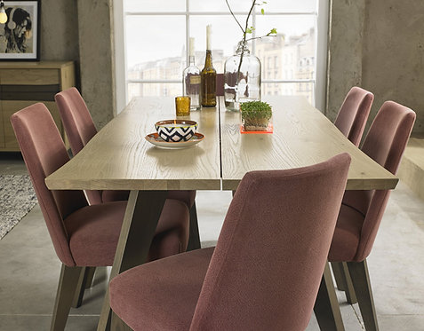 Cadell Aged Oak  6 Dining Table
