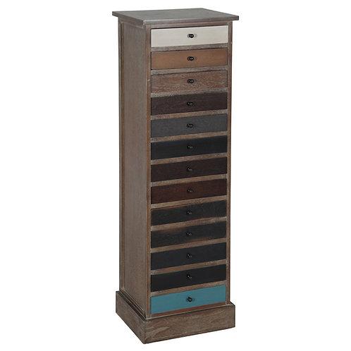 Loft - Natural Drift Wood 13 Drawer Unit