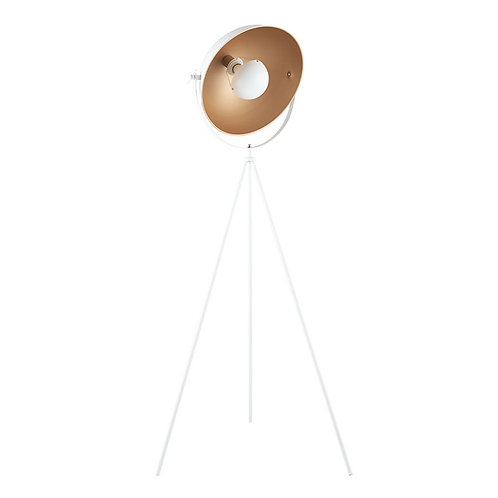 White and Gold Diffused Tripod Floor Lamp