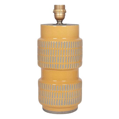Textured Mustard Stoneware Table Lamp
