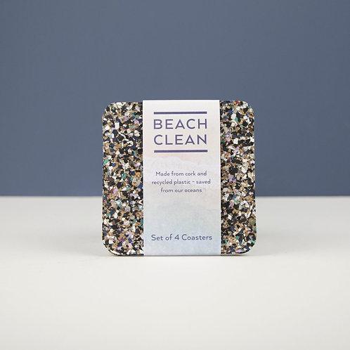 Eco  Beach Clean Coasters Set of 4