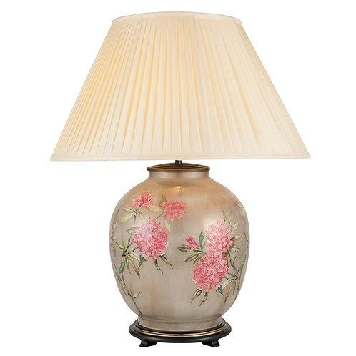 Rhododendron Large Glass Large Table Lamp
