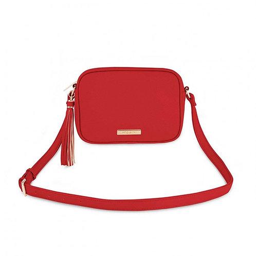 RED SOPHIA TASSEL CROSSBODY BAG