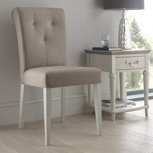 Montreux Soft Grey Upholstered Chair - Pebble Grey Fabric (Pair)