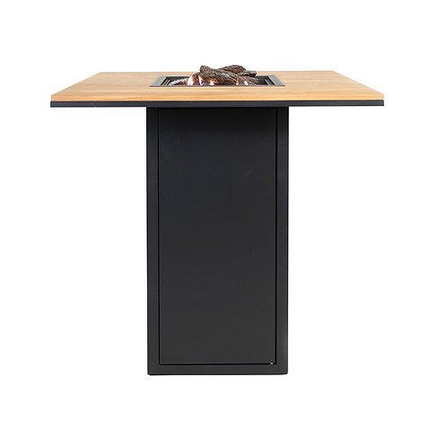 Cosiloft 100 Bar Table Black and Teak