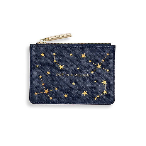 GOLD PRINT CARD HOLDER | ONE IN A MILLION | NAVY BLUE