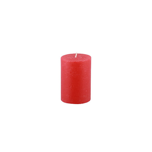 Red Rustic Pillar Candle