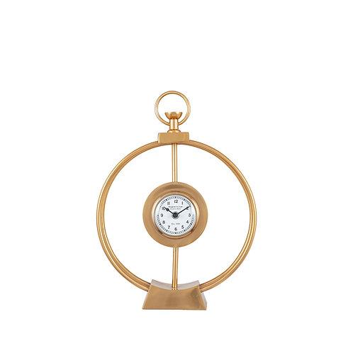 Gold Metal Framed Standing Clock