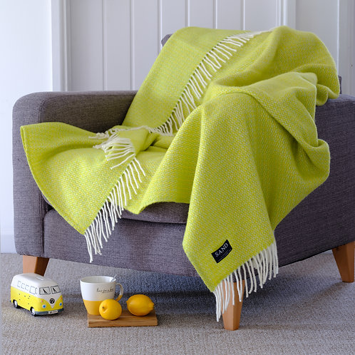 Zest Illusion Pure New Wool Sand Blanket