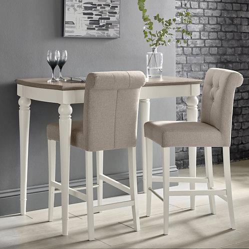 Montreux Grey Washed Oak & Soft Grey Bar Table