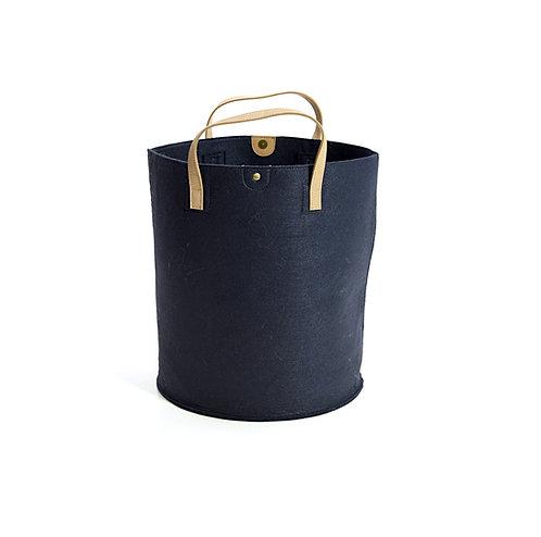 Navy Felt Storage Basket/Bag
