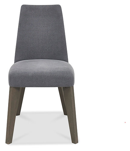 Cadell Aged & Weathered Oak Smoke Grey Upholstered Chair (Pair)