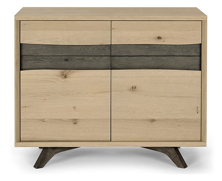 Cadell Narrow Sideboard Aged and Weathered Oak