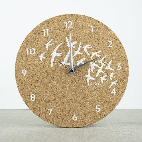 Cork Swallows Clock