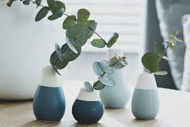 Shades of Blue Mini Vases set of 4