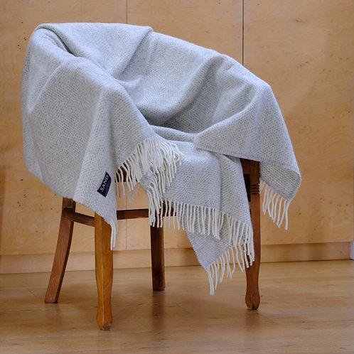 Beehive Grey Pure New Wool Sand Blanket