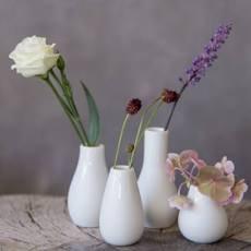 White Mini Vases set of 4