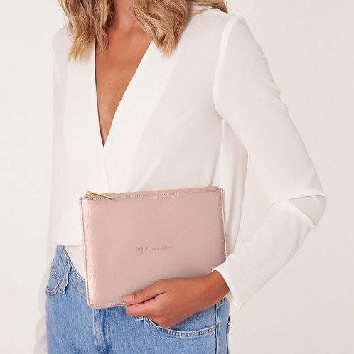 Katie Loxton 'Mum In A Million' Pouch Pale Pink