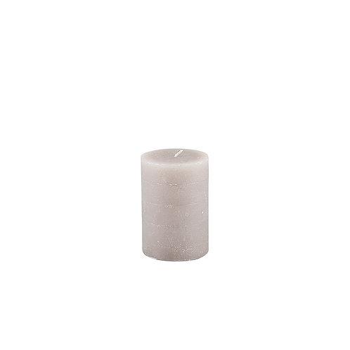 Linen Rustic Pillar Candle