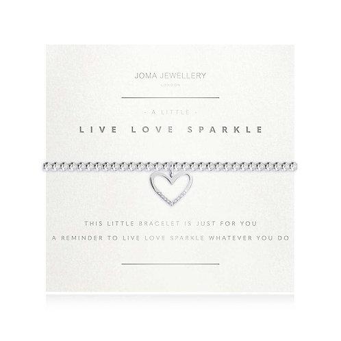 A LITTLE LIVE LOVE SPARKLE FACETED BRACELET