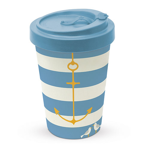 Beach anchor to-go cup 400ml made of bamboo