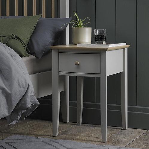 Whitby Scandi Oak & Grey 1 Drawer Nightstand