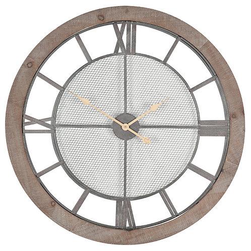 Natural Wood Round Wall Clock