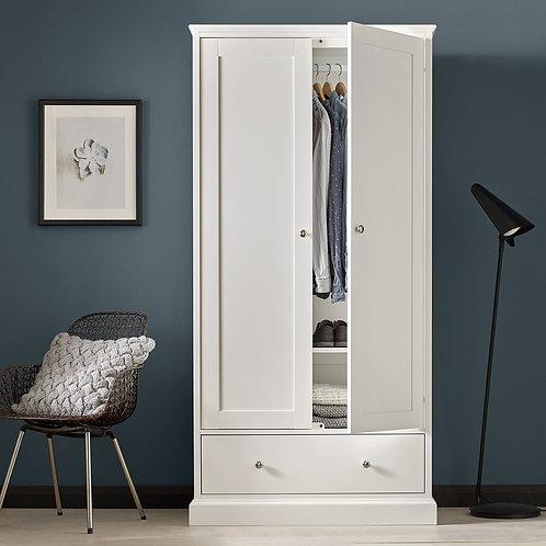 Ashby White 2 Door Double Wardrobe