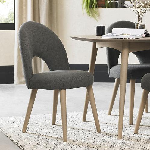 Dansk Scandi Oak Upholstered Dining Chair (Pair)